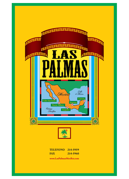 Las Palmas large menu