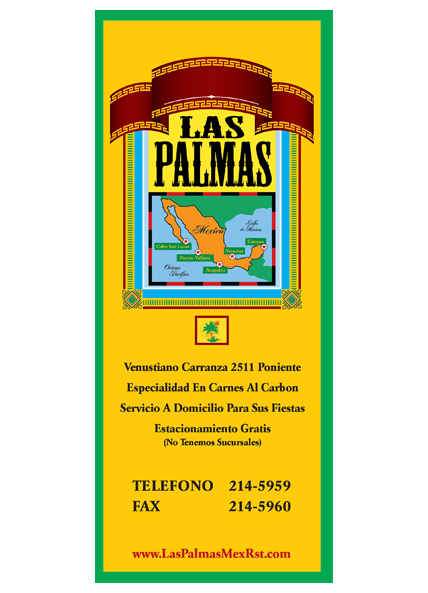 Las Palmas take-out menu