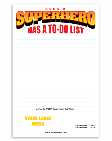 Even a Superhero Has a To-Do List!
