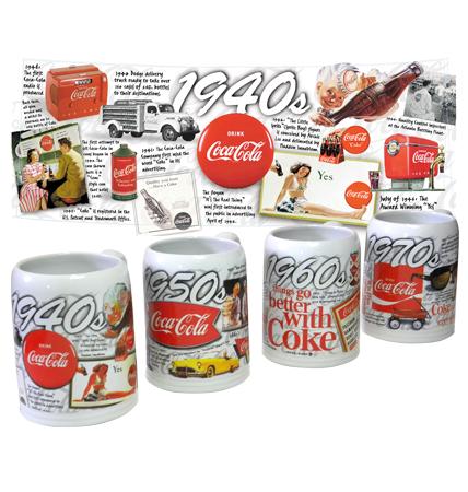 Coca-Cola Stein Mugs