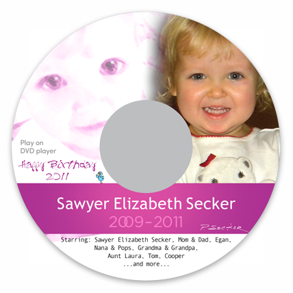 Personal Video DVD Label